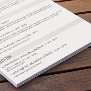 Subtle Resume Layout - Center Stage