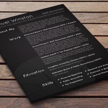 Dark Bold Resume - Penumbra Grey