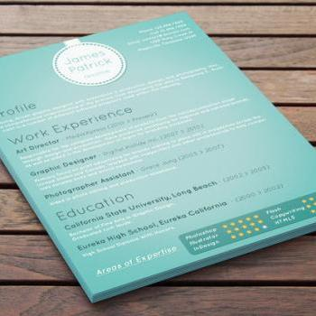 Customized Resume Design - Electric Aqua