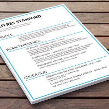 Slick CV Design - Essential Blue